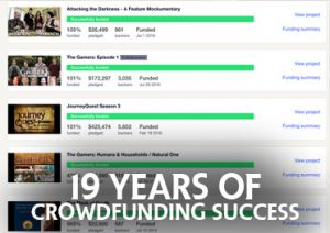 19 YEARS OF CROWDFUNDING SUCCESS